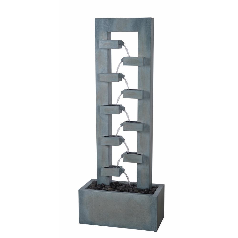 Stanton 51 in. Gray Steel Floor Fountain