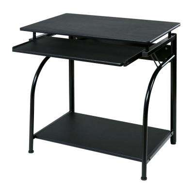 Black Stanton Computer Desk with Pullout Keyboard Tray