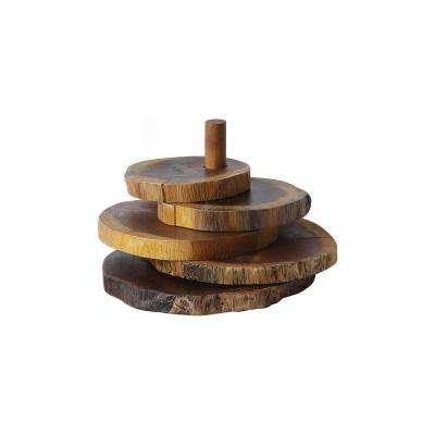 Madre De Cacao Wood Coasters with Stand