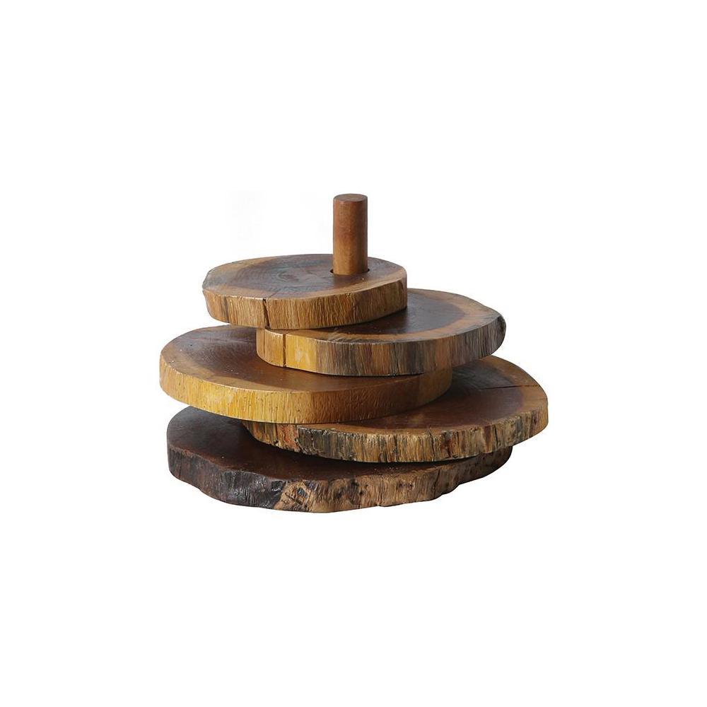 Home Decorators Collection Madre De Cacao Wood Coasters with Stand by Home Decorators Collection