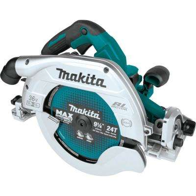 18-Volt x2 LXT Lithium-Ion (36-Volt) Brushless Cordless 9-1/4 in. Circular Saw w/Guide Rail Compatible Base (Tool Only)