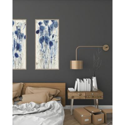28.5 in. x 16.5 in. 'Blue Impressions II' by Tim O'Toole Textured Paper Print Framed Wall Art