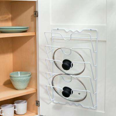 4 in. H x 11 in. W Wall-Mounted Lid Organizer