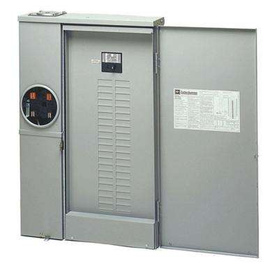 200 Amp 40-Space 40-Circuit Combination Meter Box and Distribution Panel