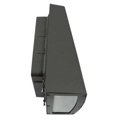 80-Watt Bronze Integrated LED Outdoor Wall Pack Light