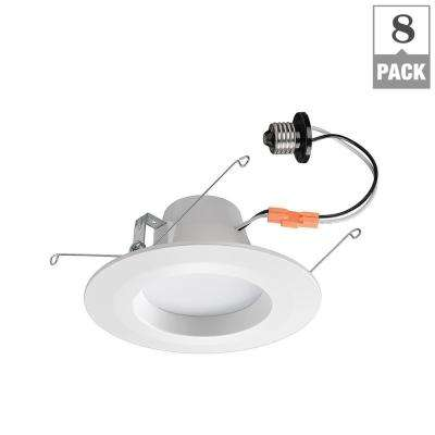 5 in. and 6 in. White RBG Color Temperature Changing Selectable Integrated LED Bluetooth Recessed Ceiling Can Light Kit