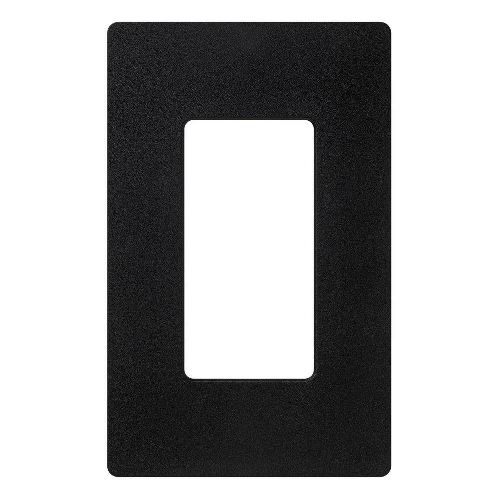 Claro 1 Gang Decora Wall Plate - Black