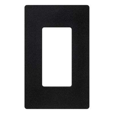 Claro 1 Gang Decorator Wallplate, Black