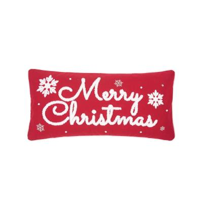 12 in. x 24 in. Red and White Christmas Pillow