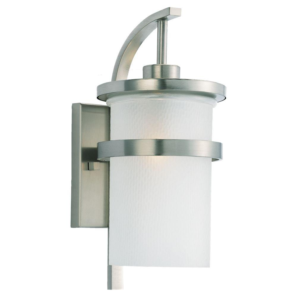Sea Gull Lighting Eternity Wall-Mount 1-Light Outdoor Brushed Nickel Fixture
