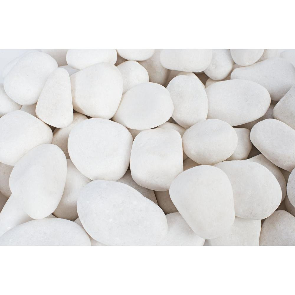 Rain Forest 0.5 in. to 1.5 in., 20 lb. Small Snow White Pebbles