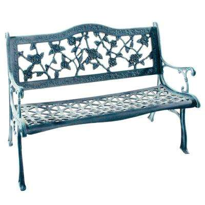 English Rose Cast Aluminum Outdoor Bench