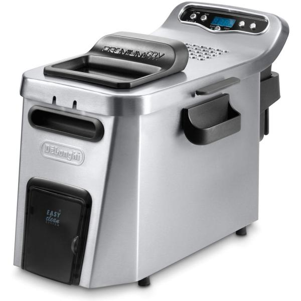 DeLonghi Dual Zone Digital 4L Stainless Steel Deep Fryer with Easy