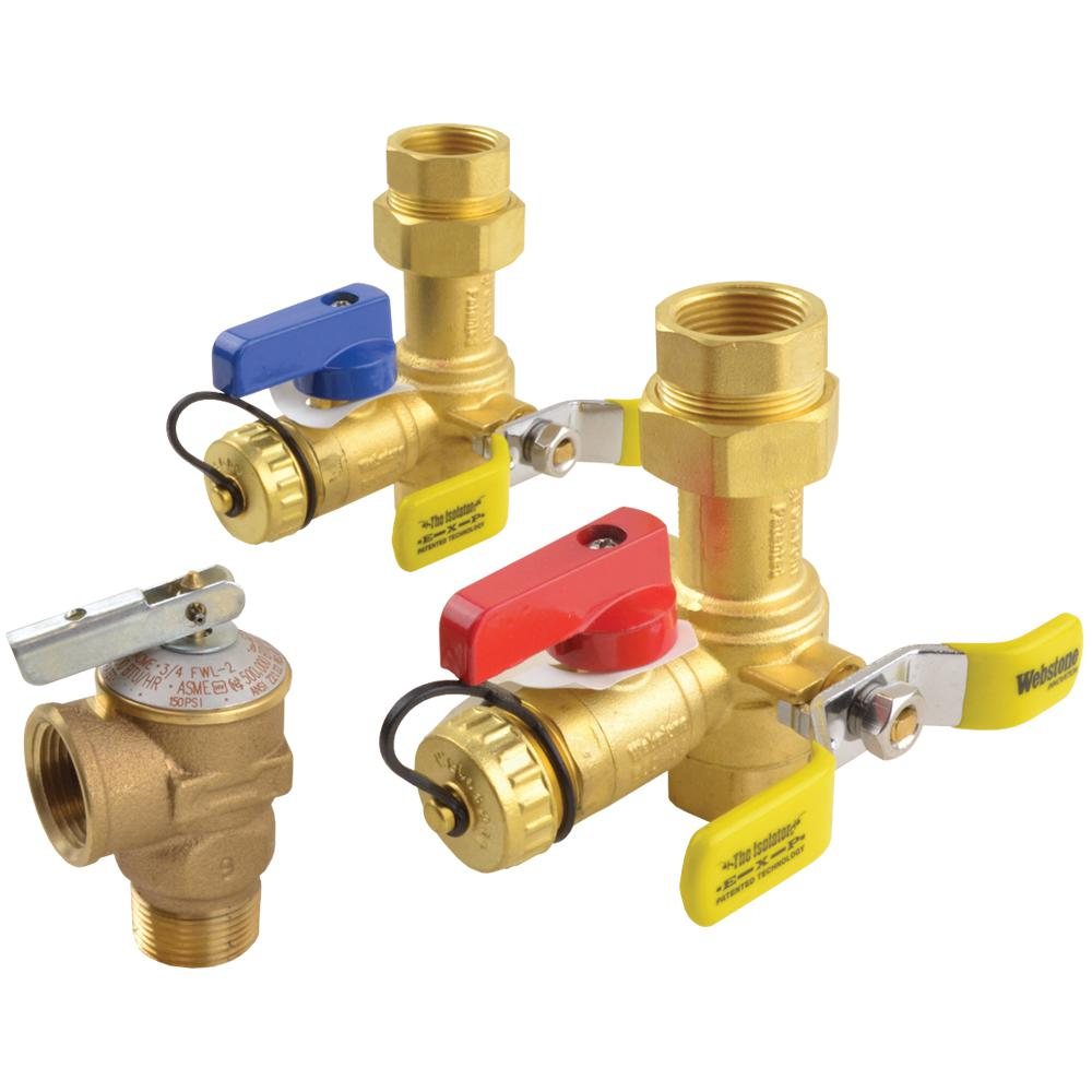 Rheem Brass Service Valves For Tankless Water Heaters