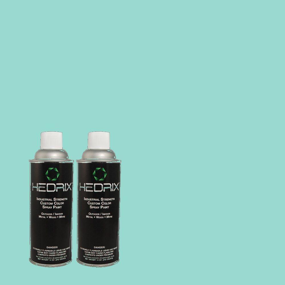 Hedrix 11 oz. Match of MQ4-22 Key Largo Low Lustre Custom Spray Paint (8-Pack)