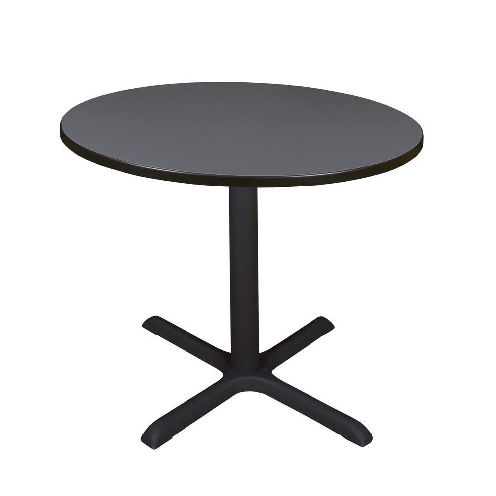 Coffee Table Leg Broken: Regency Cain Grey Round 42 In. Breakroom Table-TB42RNDGY
