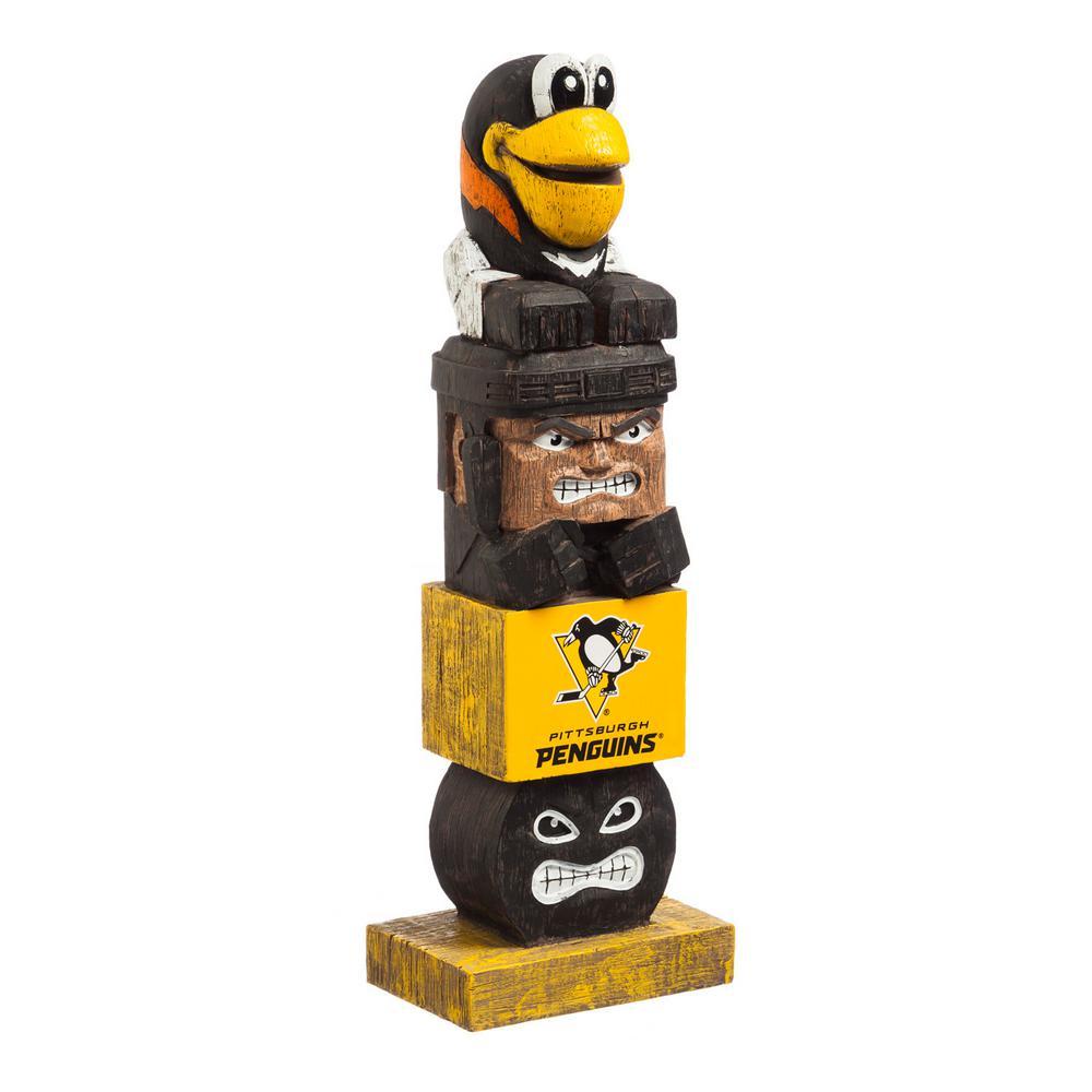 Evergreen Pittsburgh Penguins Tiki Totem Garden Statue 844372tt