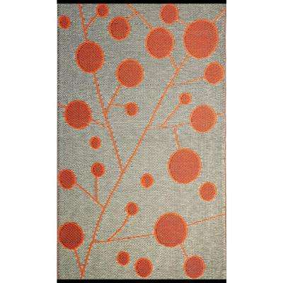 Cotton Ball Brown/Orange 6 ft. x 9 ft. Outdoor Reversible Area Rug