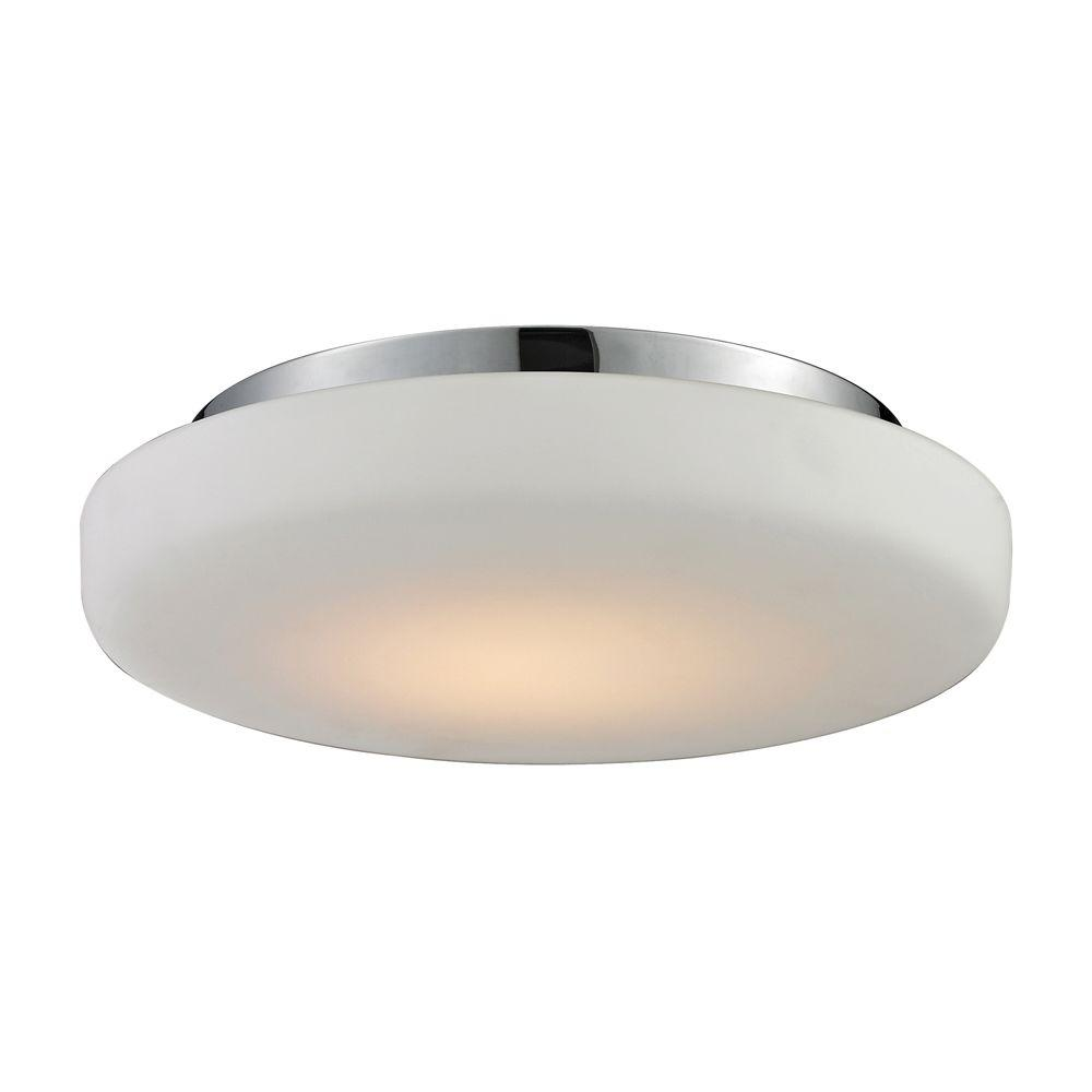 Titan Lighting 1-Light Ceiling Mount Chrome Flush mount-DISCONTINUED
