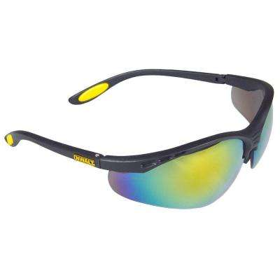 Safety Glasses Reinforcer with Fire Mirror Lens