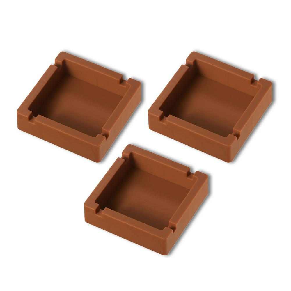 Elora Brown Silicon Unbreakable Cigarette Ashtray (3-Pack)
