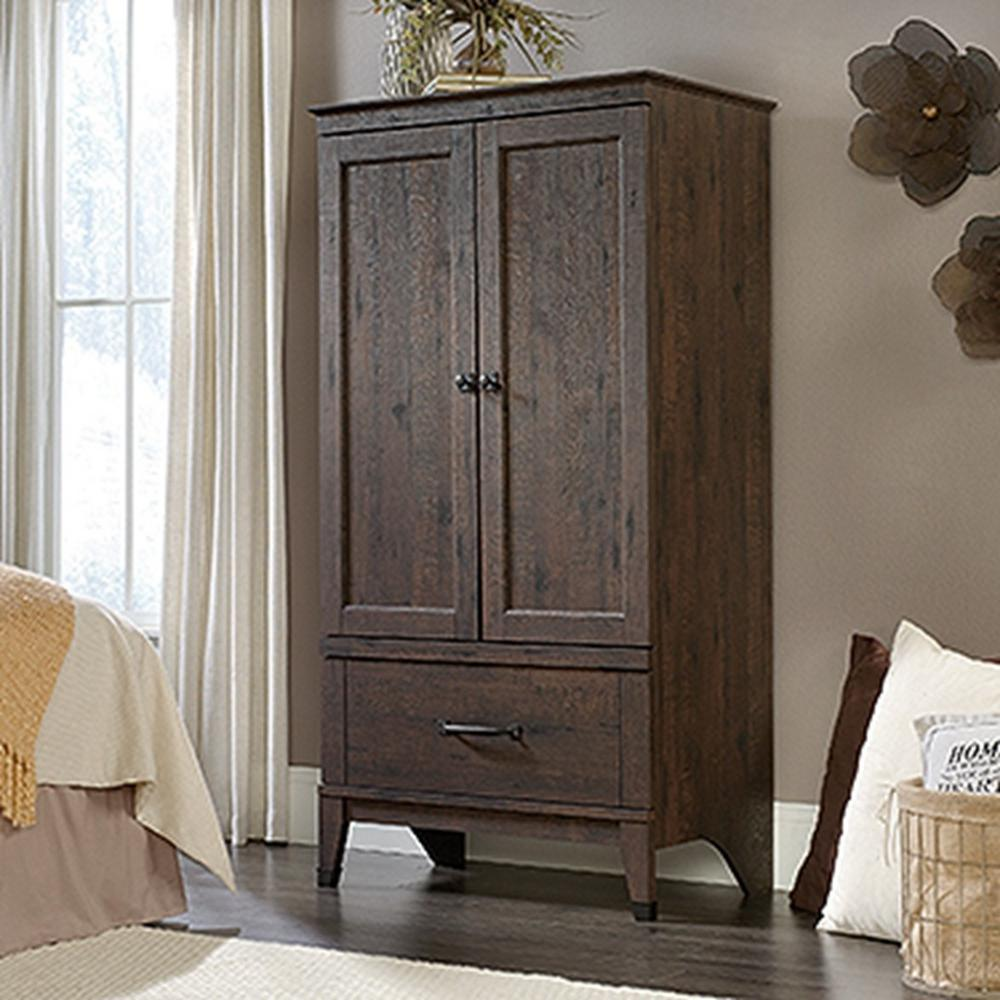 Wonderful SAUDER Carson Forge Coffee Oak Armoire