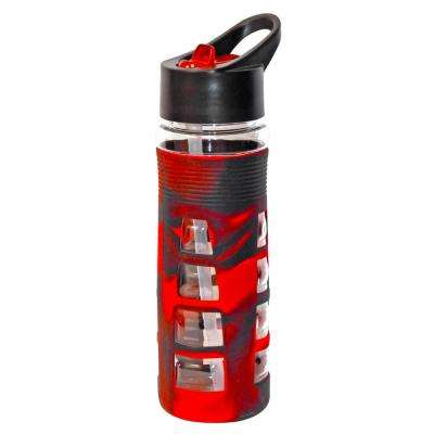 25 oz. Red and Black Plastic Tritan Hydration Bottle (6-Pack)