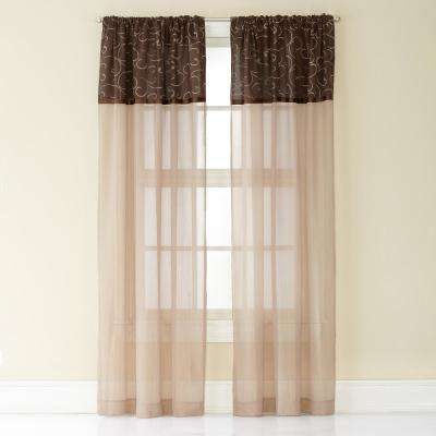 Westgate Poletop Panel 50 in. W x 63 in. L in Chocolate
