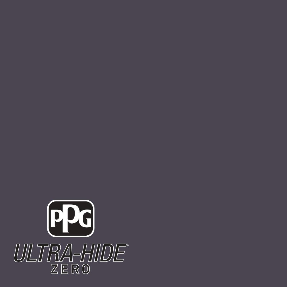 PPG 1 gal. #HDPV52D Ultra-Hide Zero Black Amethyst Semi-Gloss Interior Paint