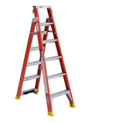 13 ft. Reach Fiberglass 2-in-1 Dual Purpose Ladder with 300 lb. Load Capacity Type IA Duty Raing