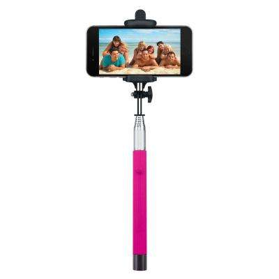 Foldable Bluetooth Selfie Stick - Pink