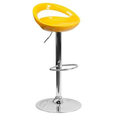 24 in. to 33 in. H Yellow Bar Stool