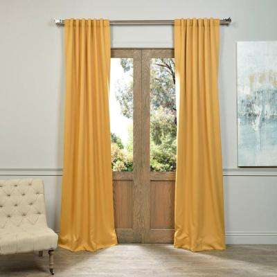 Semi-Opaque Marigold Blackout Curtain - 50 in. W x 84 in. L (Panel)