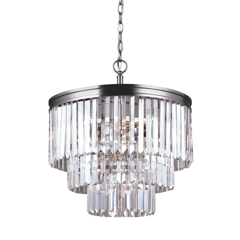 Sea Gull Lighting Carondelet 18.1875 in. W 4-Light Antique Brushed ...