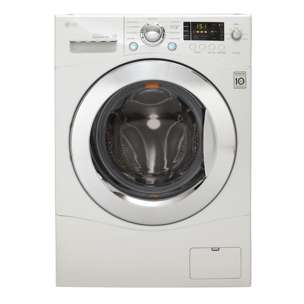 LG Electronics 2.3 cu. ft. High-Efficiency Front Load Washer in White, ENERGY STAR-DISCONTINUED