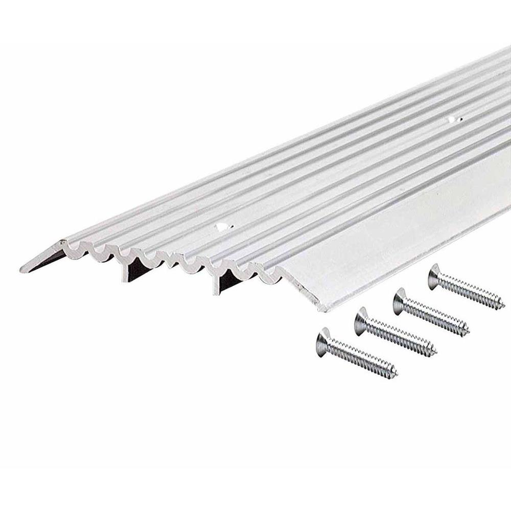 M-D Building Products 1/2 in. x 4 in. x 36 in. Fluted Top Heavy Duty Aluminum Threshold