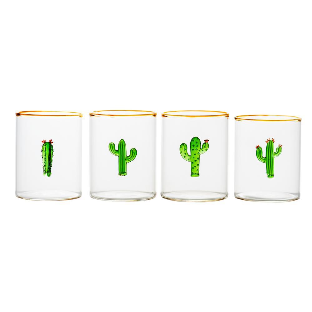 8 oz. Aztec Cactus Tumbler (Set of 4)