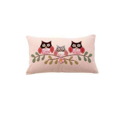 3-Owls 20 in. W Decorative Pillow
