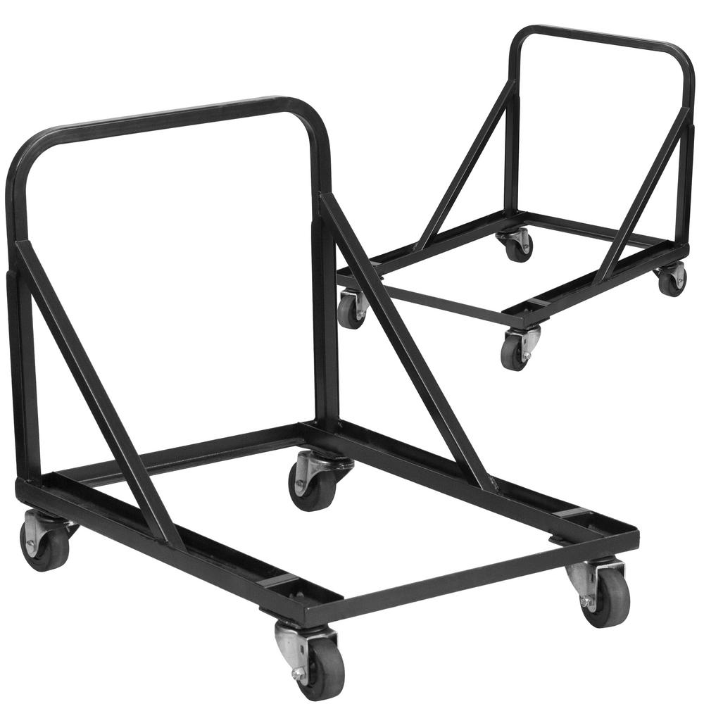 Carnegy Avenue 1200 Lbs Capacity Stack Chair Dolly With Wheels Black Set Of 2 Cga Hf 207801 Bl Hd The Home Depot