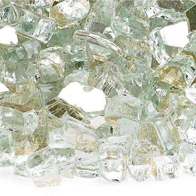1/4 in. Platinum Reflective Fire Glass 10 lbs. Bag