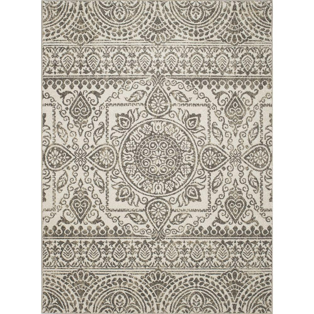 New Casa Aubosson Grey 2 ft. 7 in. x 4 ft.
