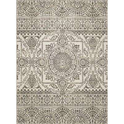 New Casa Aubosson Grey 8 ft. x 11 ft. Area Rug