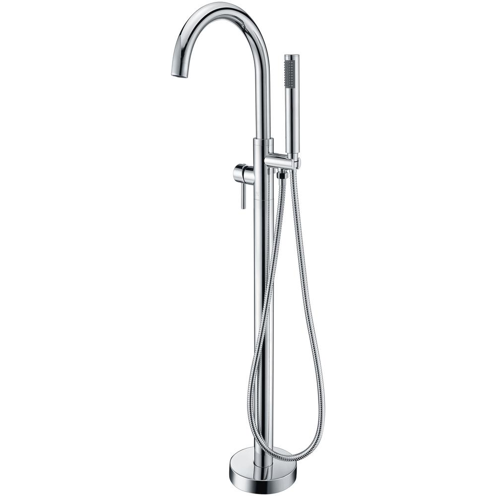 Anzzi Kros Series 2 Handle Freestanding Claw Foot Tub Faucet With