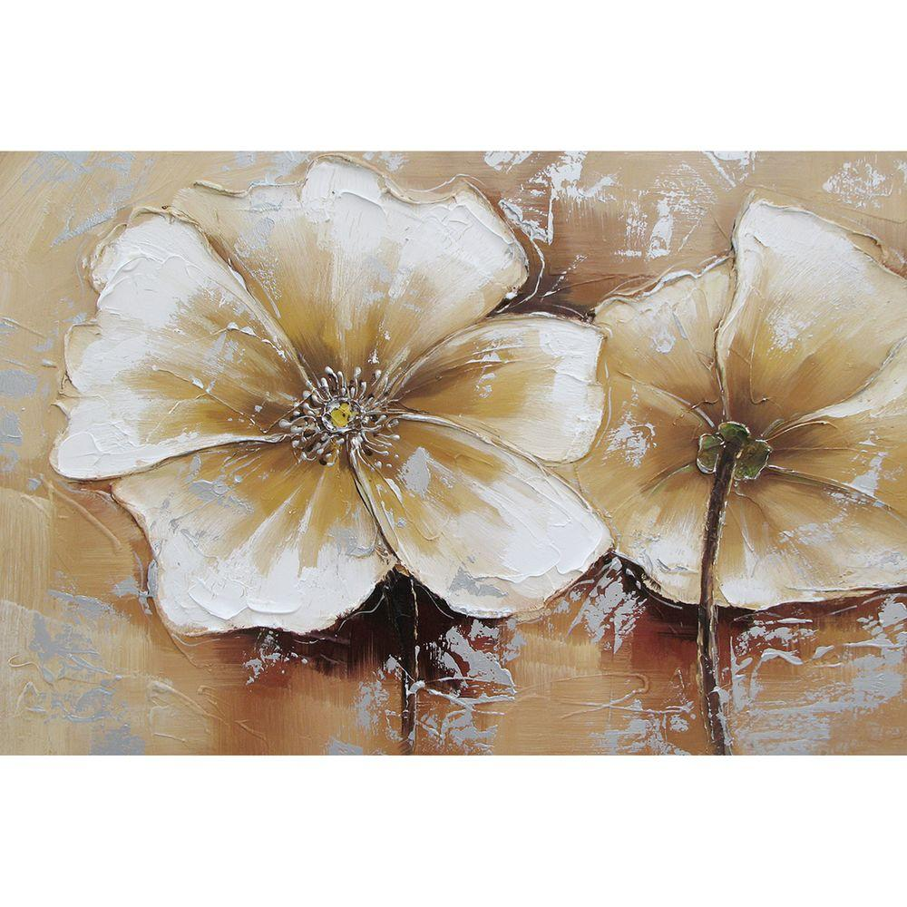 Yosemite Home Decor 48 in. x 72 in. Full Bloom III Hand Painted Contemporary Artwork