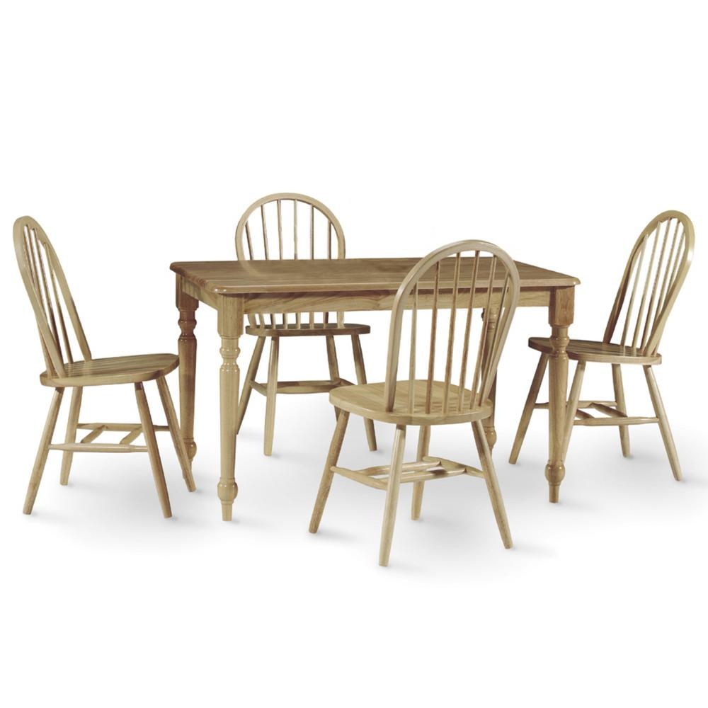 International Concepts 5-Piece Natural Dining Set