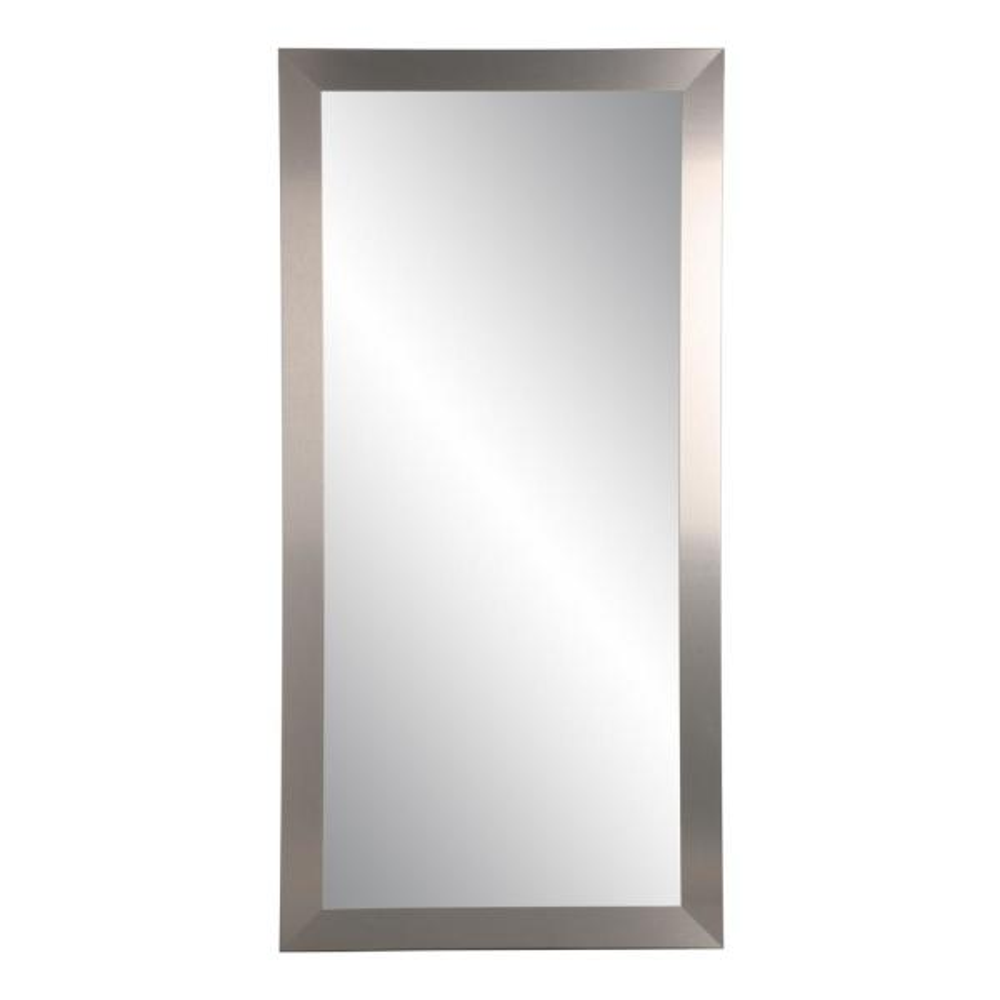 Oversized Silver Composite Hooks Modern Industrial Mid-Century Modern Mirror (71 in. H X 32 in. W)
