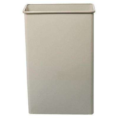 22 Gal. Beige Rectangular Large Capacity Trash Can