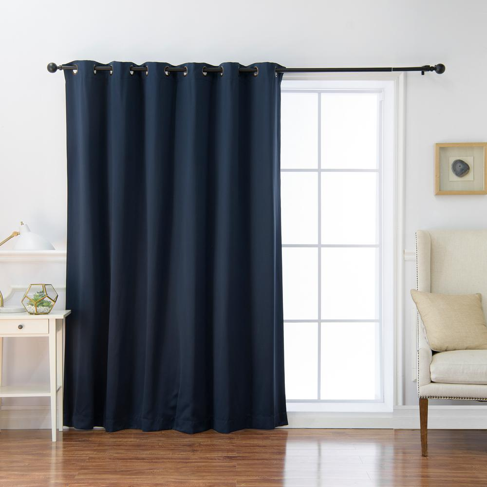 100 in. x 84 in. Flame Retardant Blackout Curtain Panel in