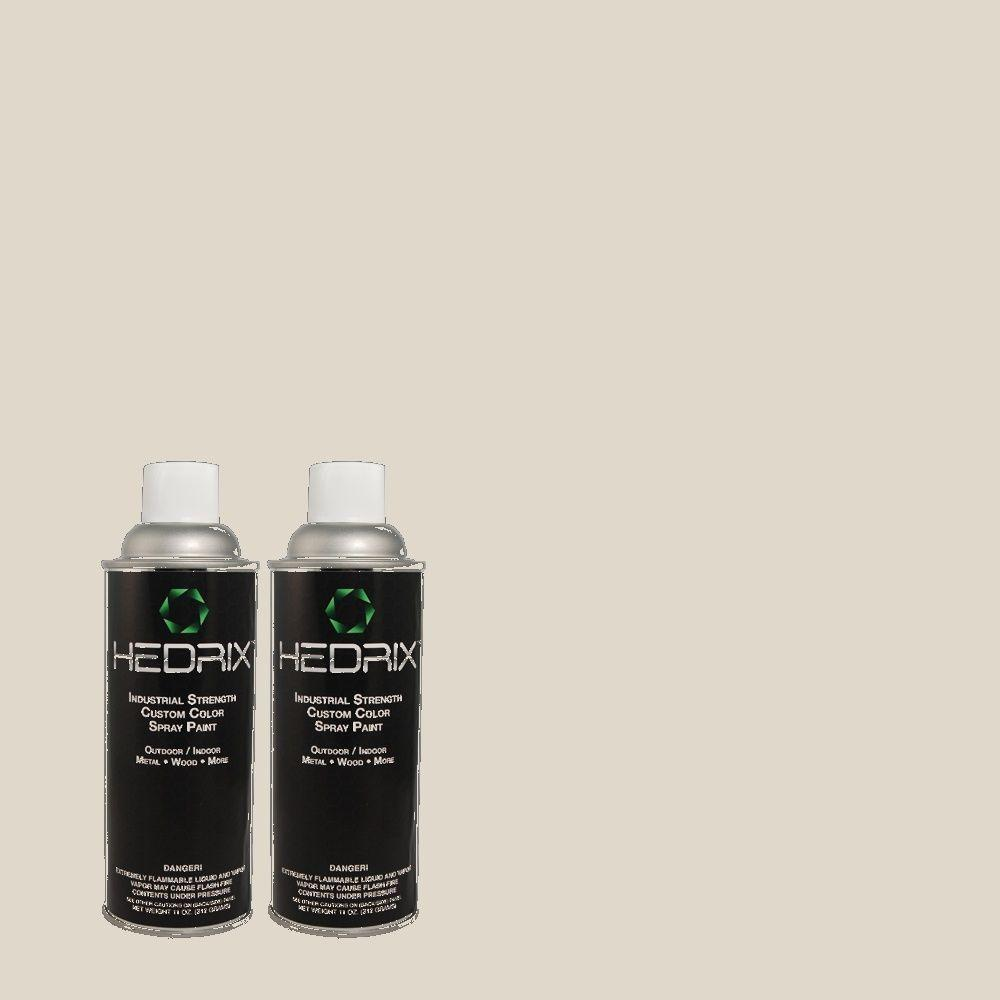 Hedrix 11 oz. Match of C40-62 Silverstone Semi-Gloss Custom Spray Paint (2-Pack)