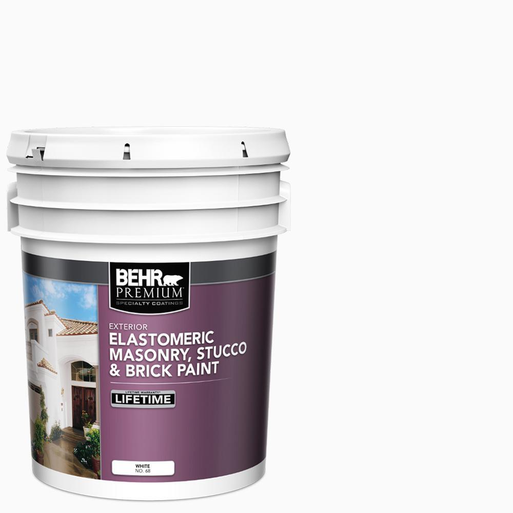 Home Depot Exterior Paint: BEHR Premium 5 Gal. Elastomeric Masonry, Stucco And Brick